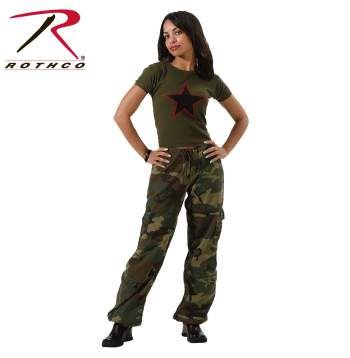 Rothco Womens Camo Vintage Paratrooper Fatigue Pants